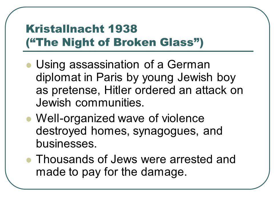 Kristallnacht 1938 ( The Night of Broken Glass )