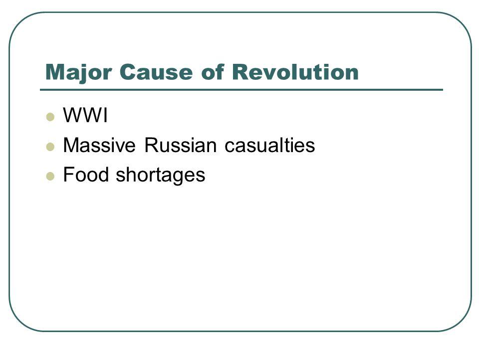 Major Cause of Revolution