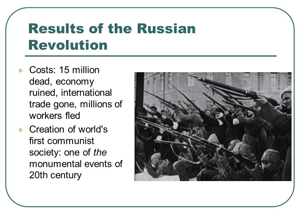 Results of the Russian Revolution