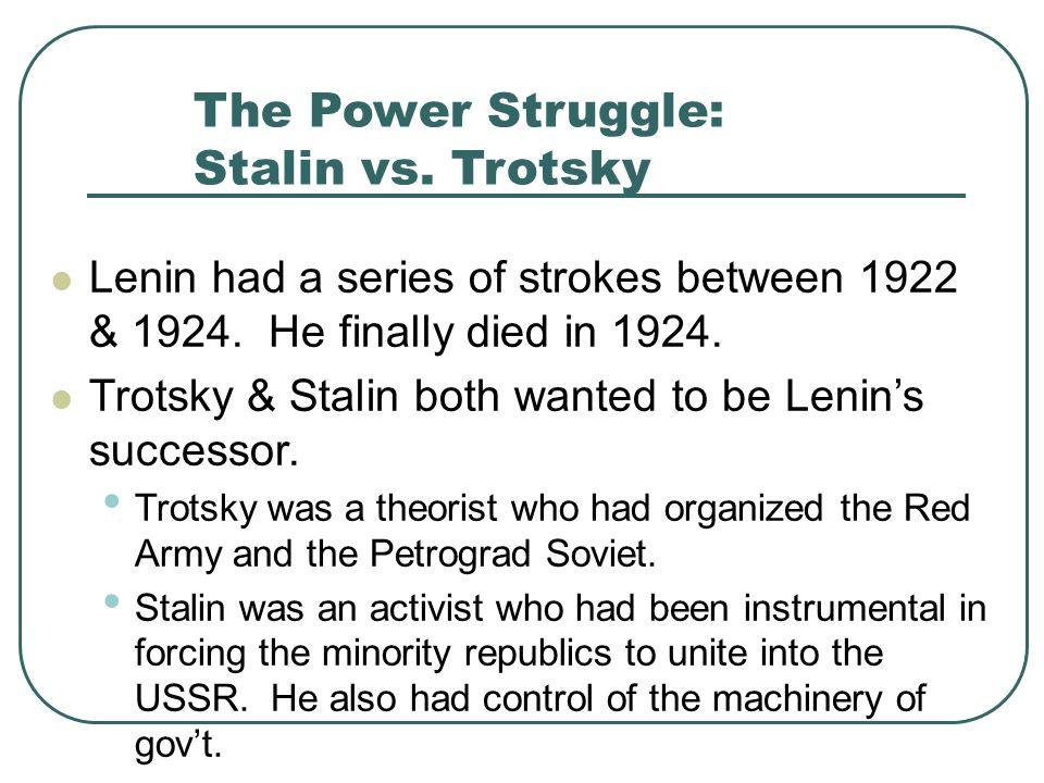The Power Struggle: Stalin vs. Trotsky
