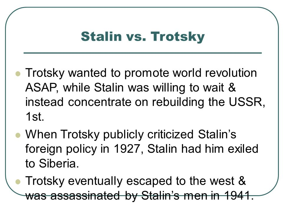 Stalin vs. Trotsky