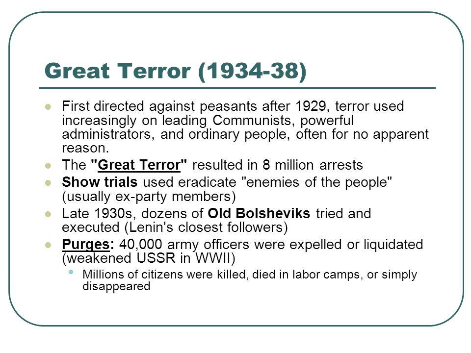 Great Terror (1934-38)
