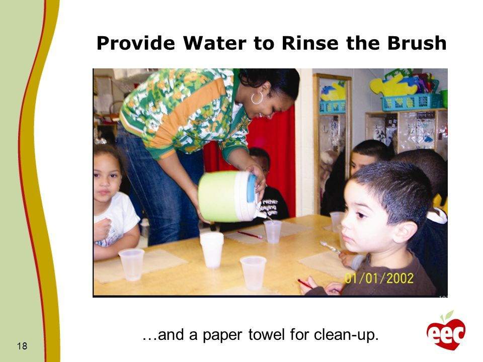Provide Water to Rinse the Brush