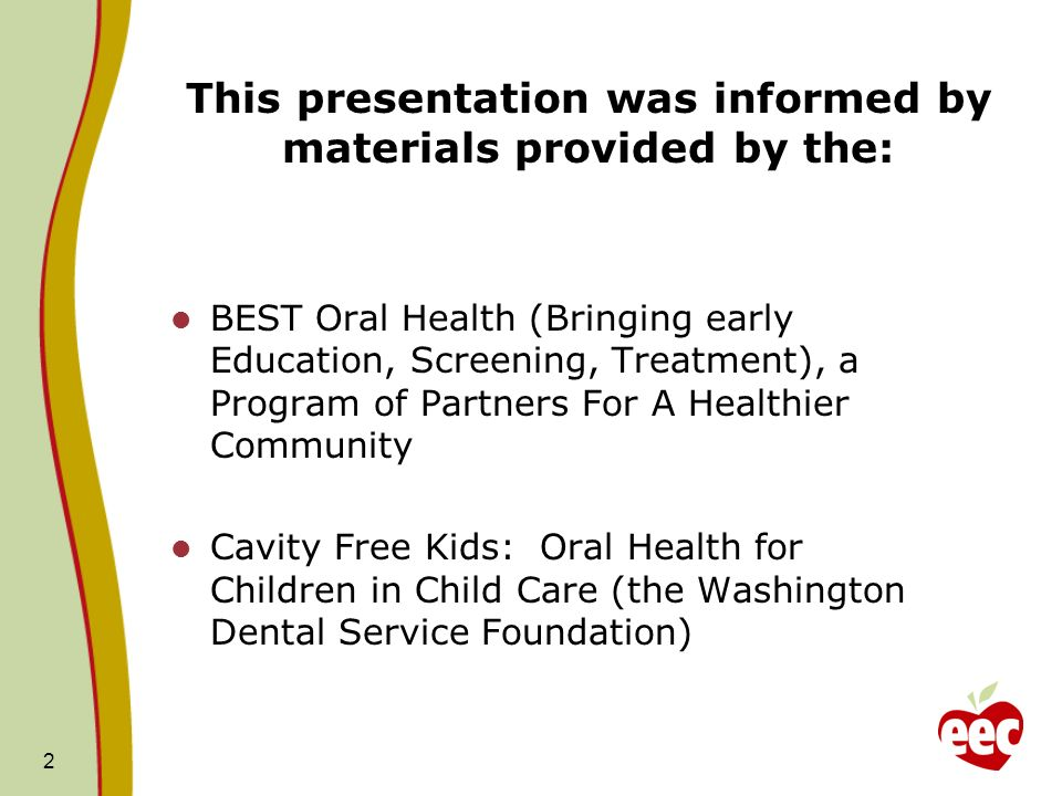This presentation was informed by materials provided by the: