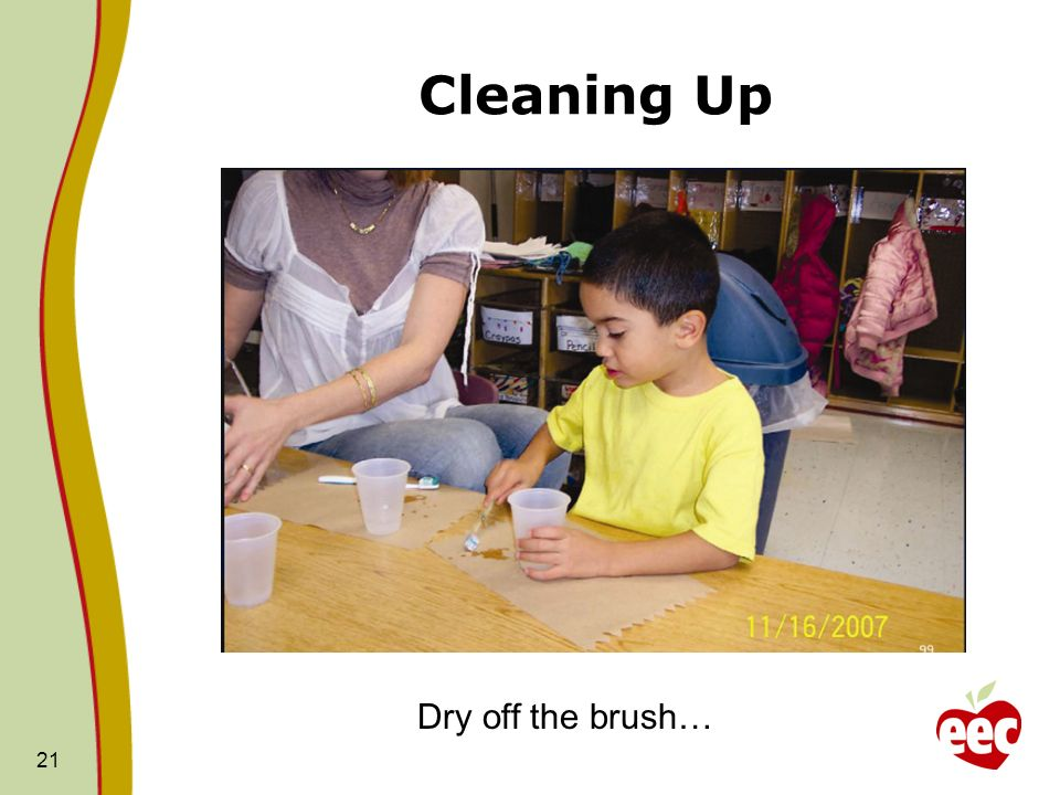 Cleaning Up Dry off the brush…