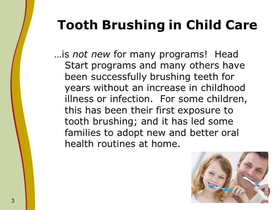 Tooth Brushing in Child Care