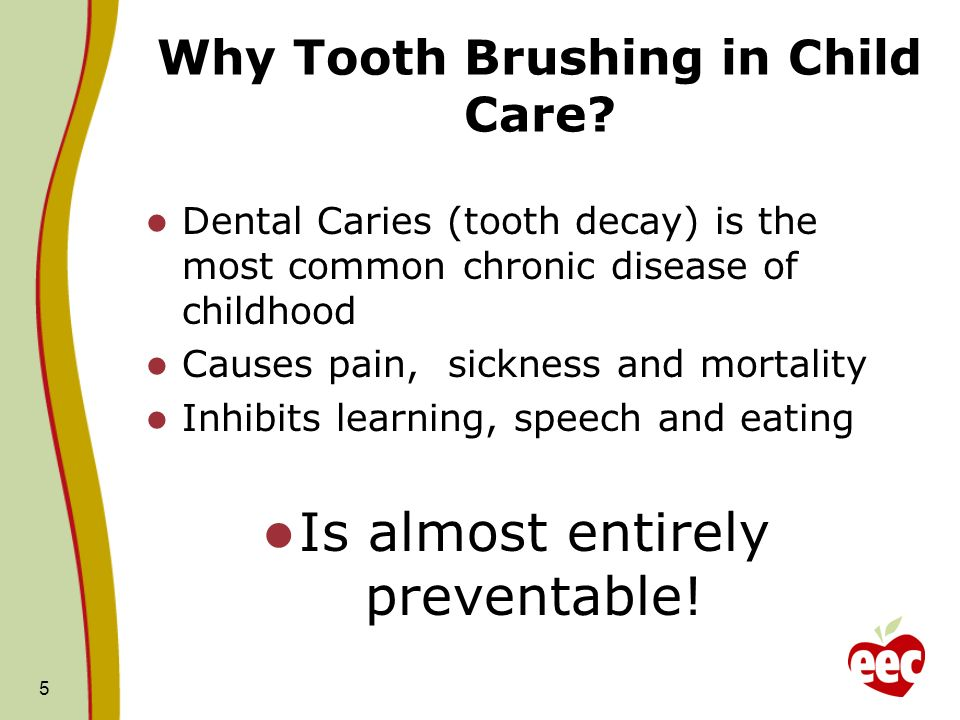 Why Tooth Brushing in Child Care