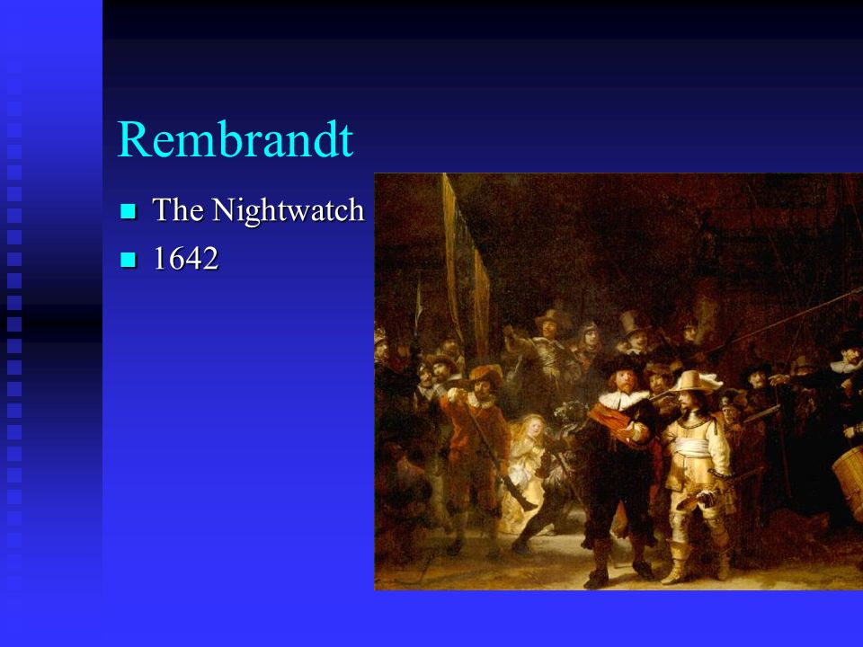 Rembrandt The Nightwatch 1642