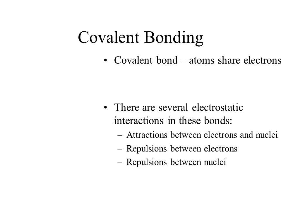 Covalent Bonding Covalent bond – atoms share electrons.