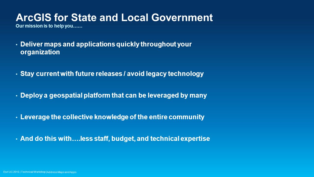 ArcGIS for State and Local Government