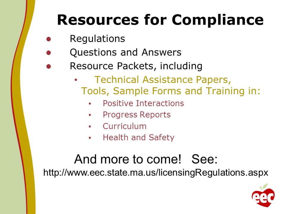 Resources for Compliance
