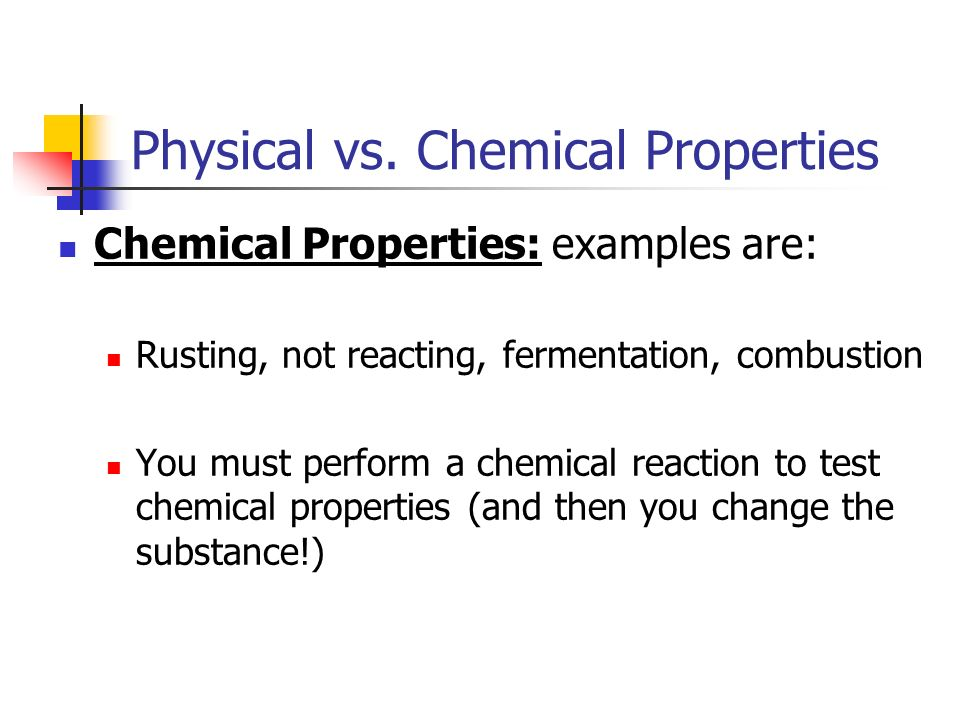 Physical vs. Chemical Properties