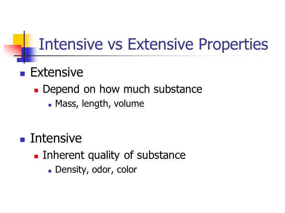 Intensive vs Extensive Properties