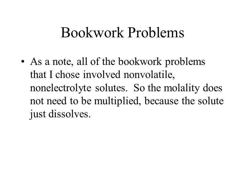 Bookwork Problems