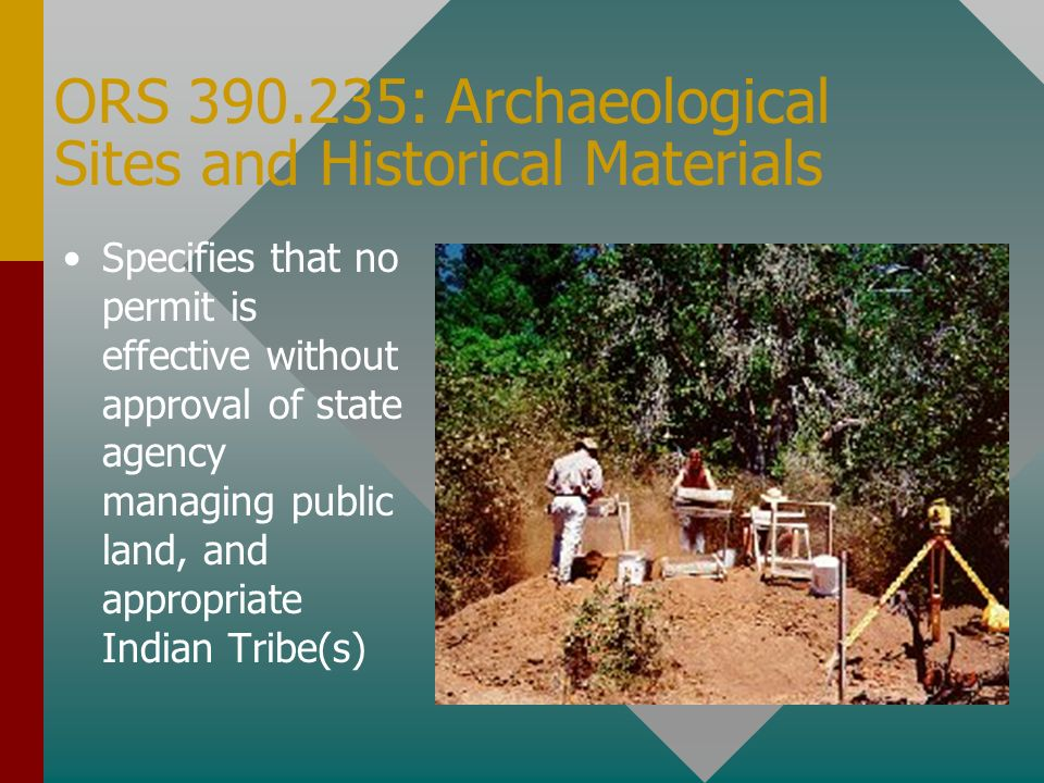 ORS 390.235: Archaeological Sites and Historical Materials