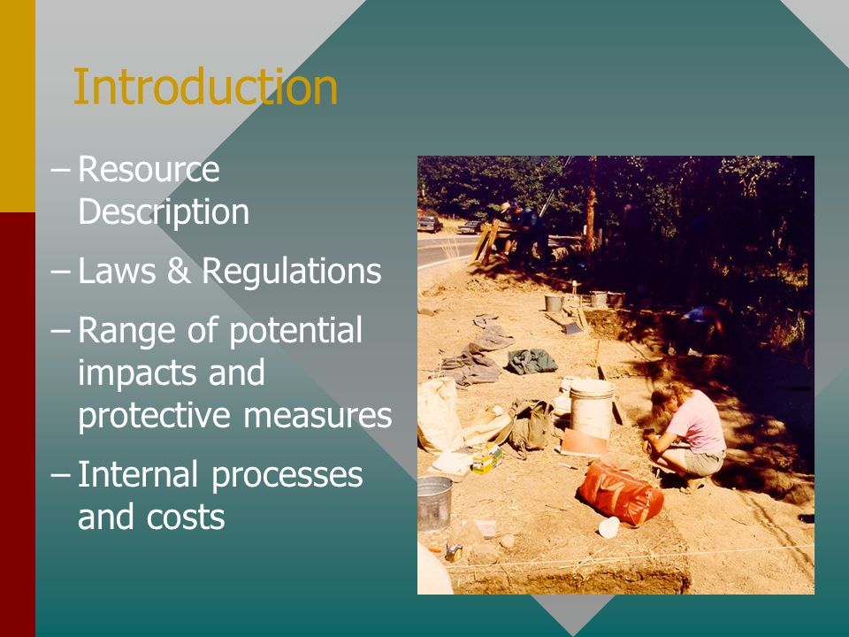 Introduction Resource Description Laws & Regulations