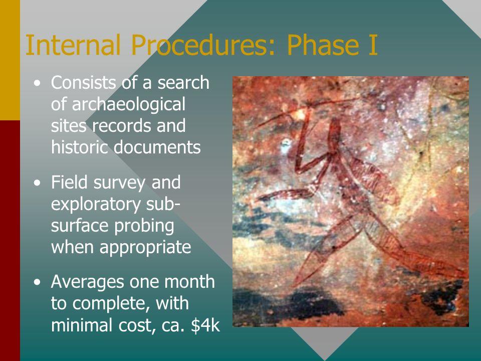 Internal Procedures: Phase I