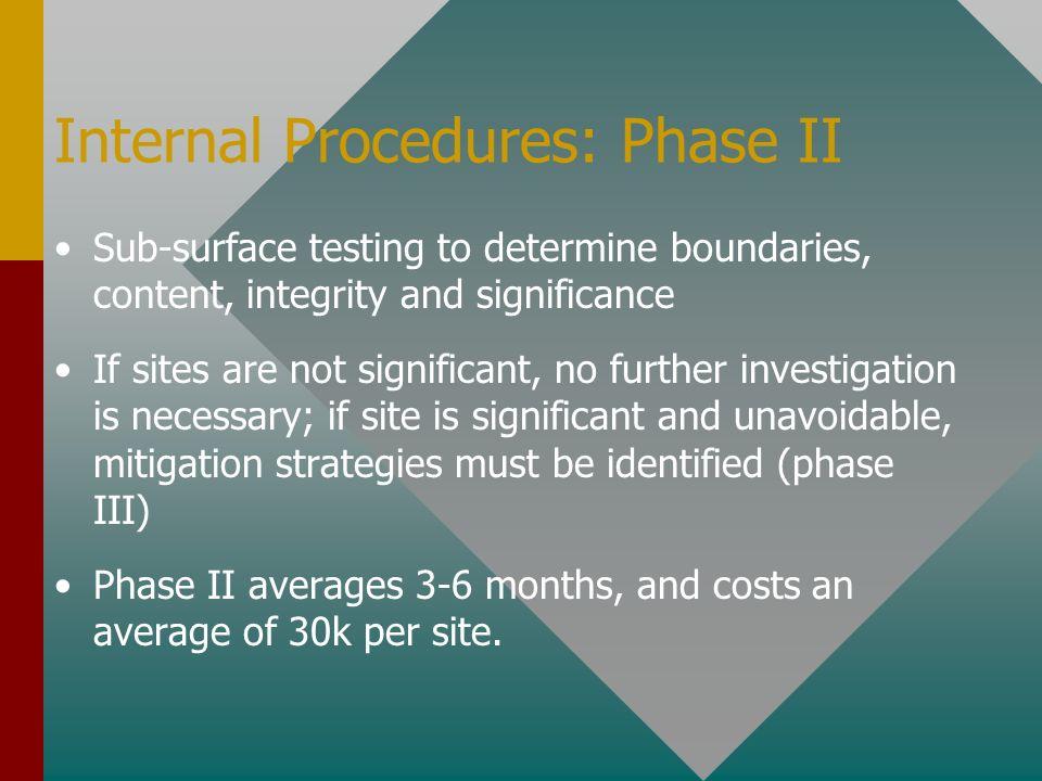 Internal Procedures: Phase II