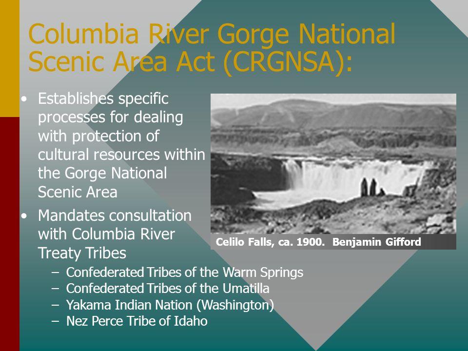 Columbia River Gorge National Scenic Area Act (CRGNSA):