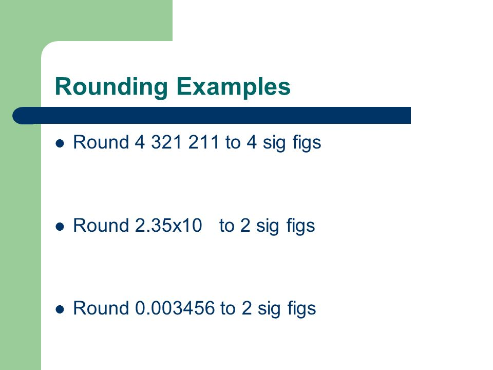 Rounding Examples Round 4 321 211 to 4 sig figs