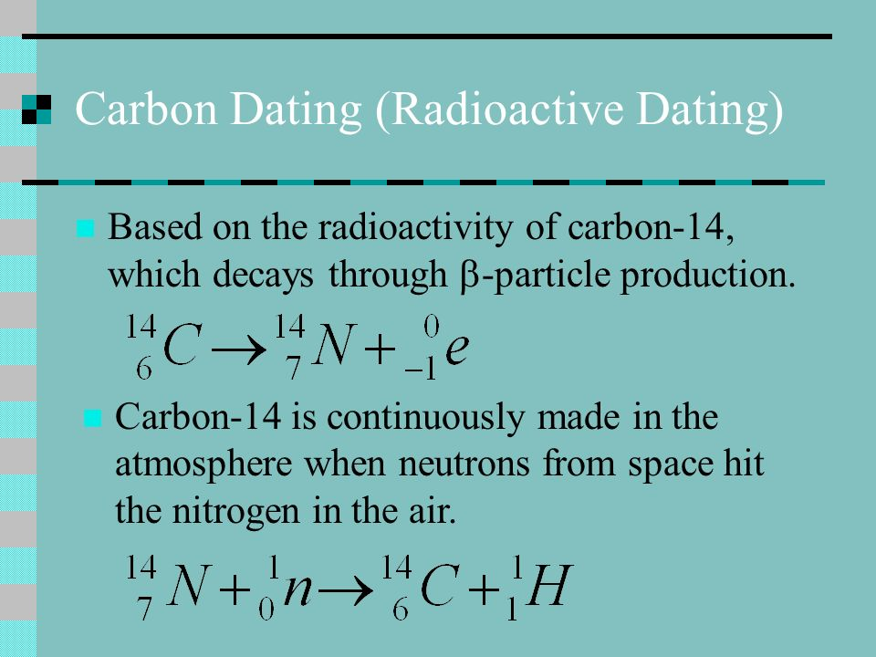 Carbon Dating (Radioactive Dating)
