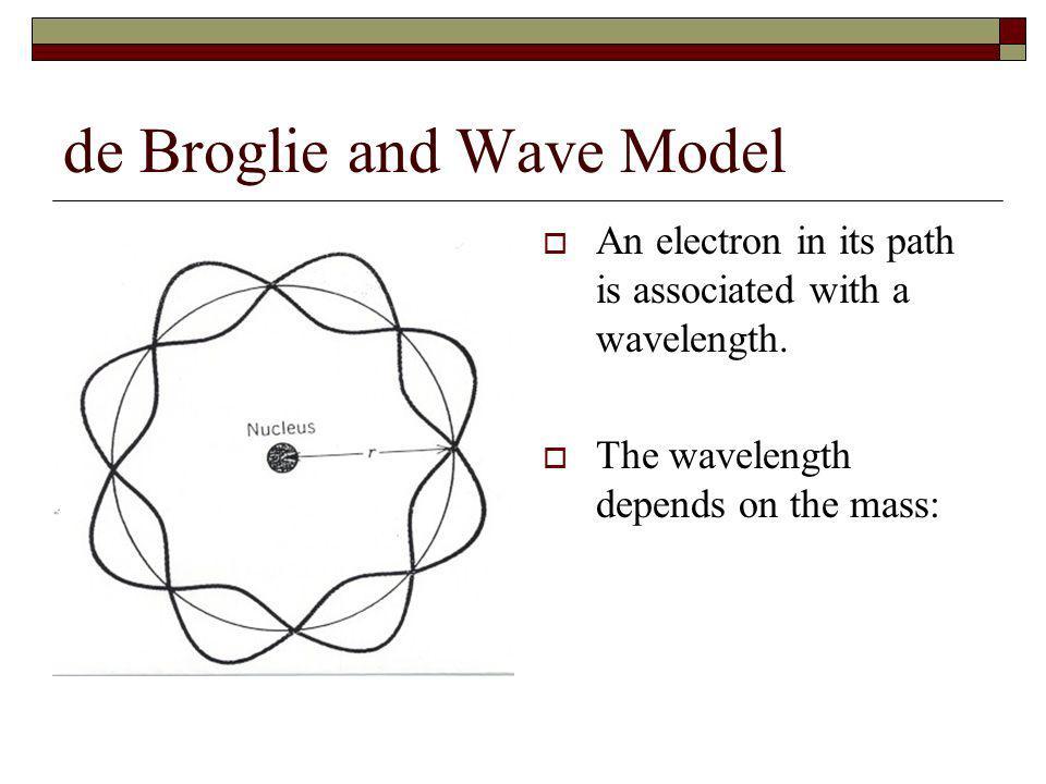 de Broglie and Wave Model