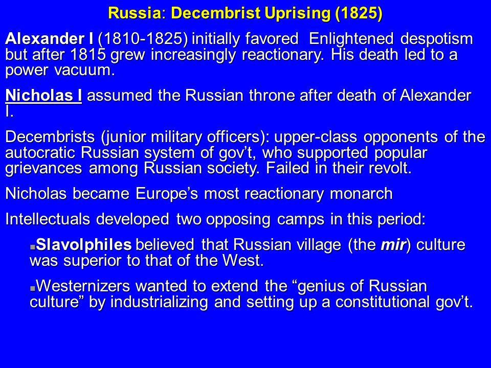 Russia: Decembrist Uprising (1825)