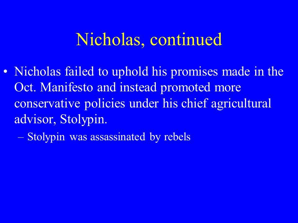 Nicholas, continued