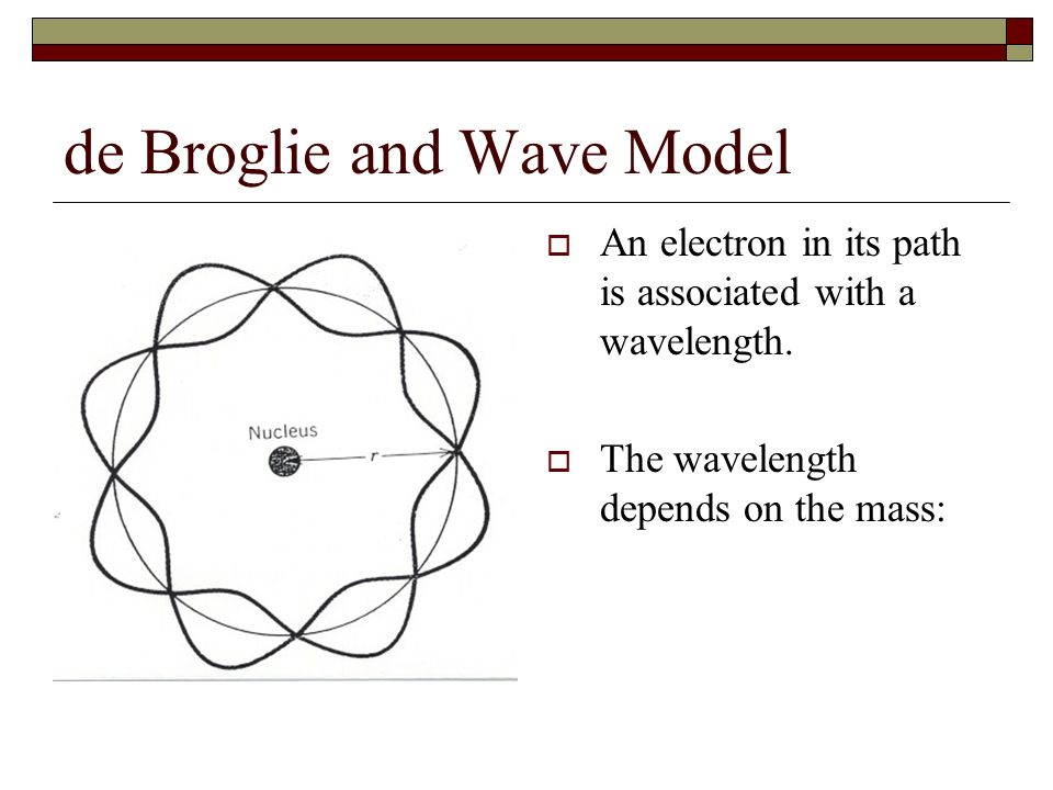 de Broglie and Wave Model