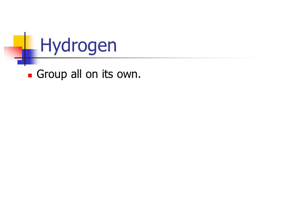 Hydrogen Group all on its own.