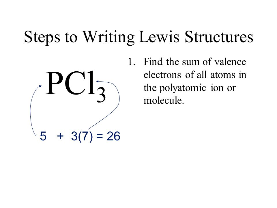 Steps to Writing Lewis Structures