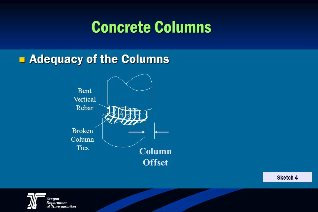 Concrete Columns Adequacy of the Columns Column Offset