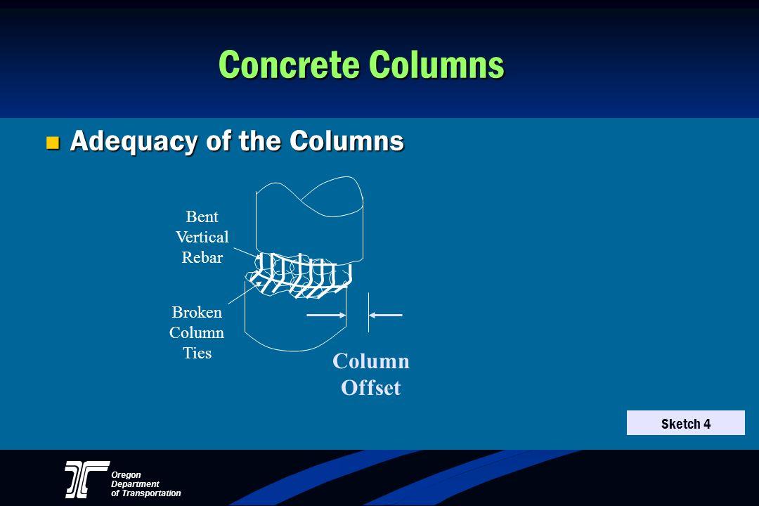 Concrete Columns Adequacy of the Columns Column Offset