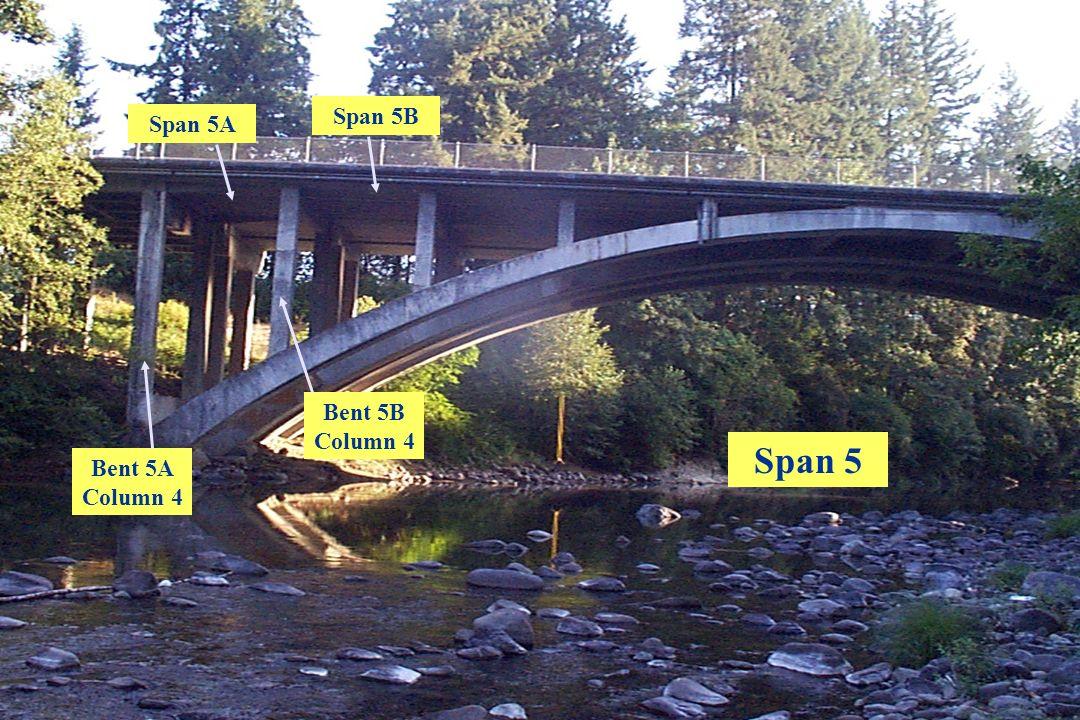 Span 5B Span 5A Bent 5B Column 4 Span 5 Bent 5A Column 4