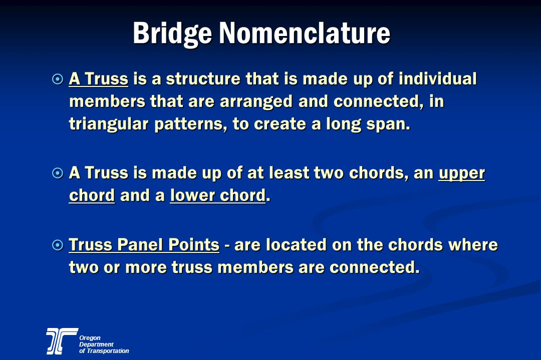 Bridge Nomenclature