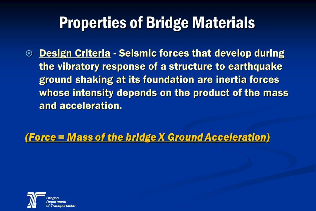 Properties of Bridge Materials