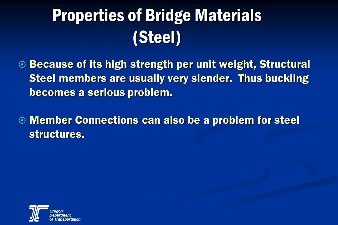 Properties of Bridge Materials (Steel)