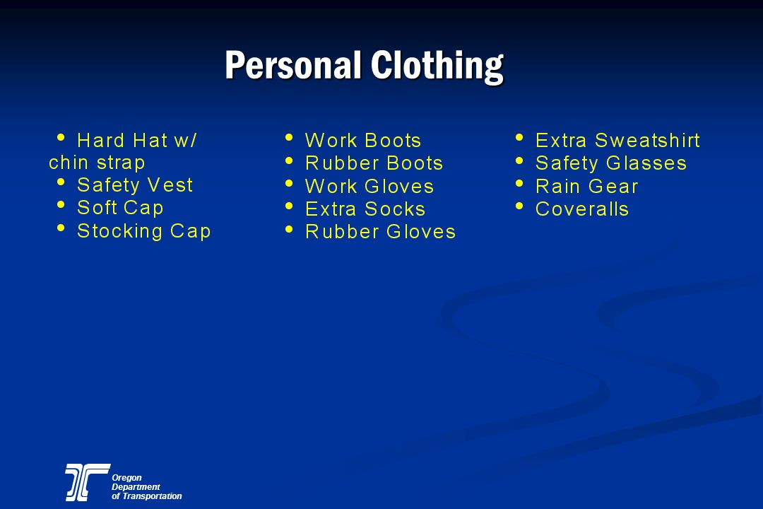 Personal Clothing