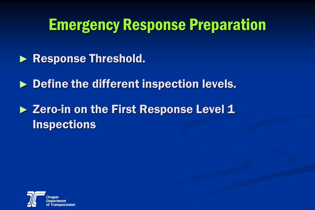 Emergency Response Preparation