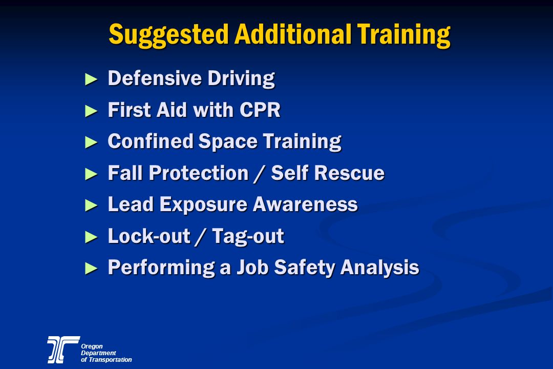 Suggested Additional Training