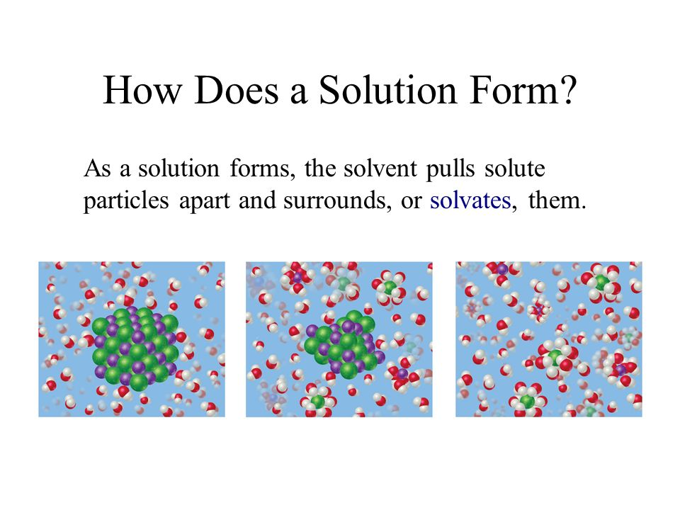 How Does a Solution Form