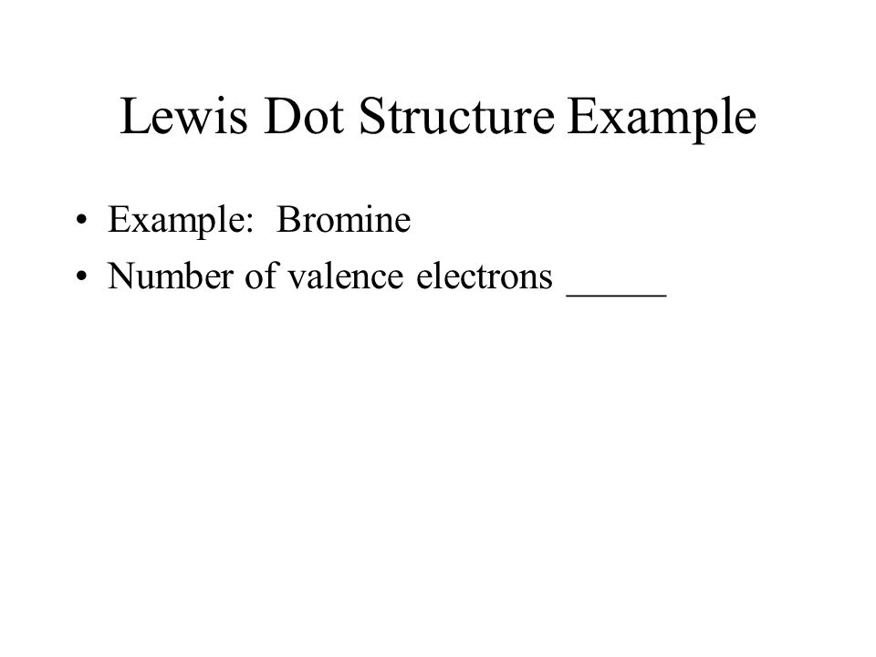 Lewis Dot Structure Example