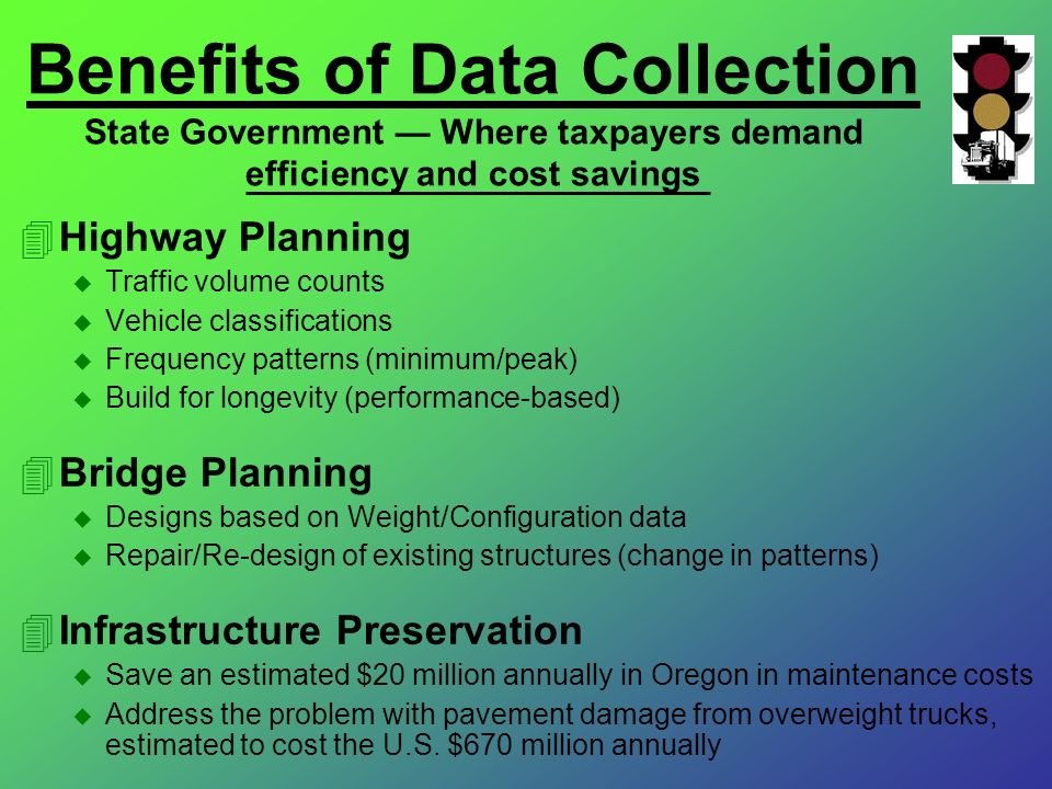 Benefits of Data Collection State Government — Where taxpayers demand efficiency and cost savings