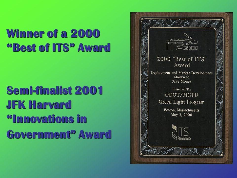 Winner of a 2000 Best of ITS Award