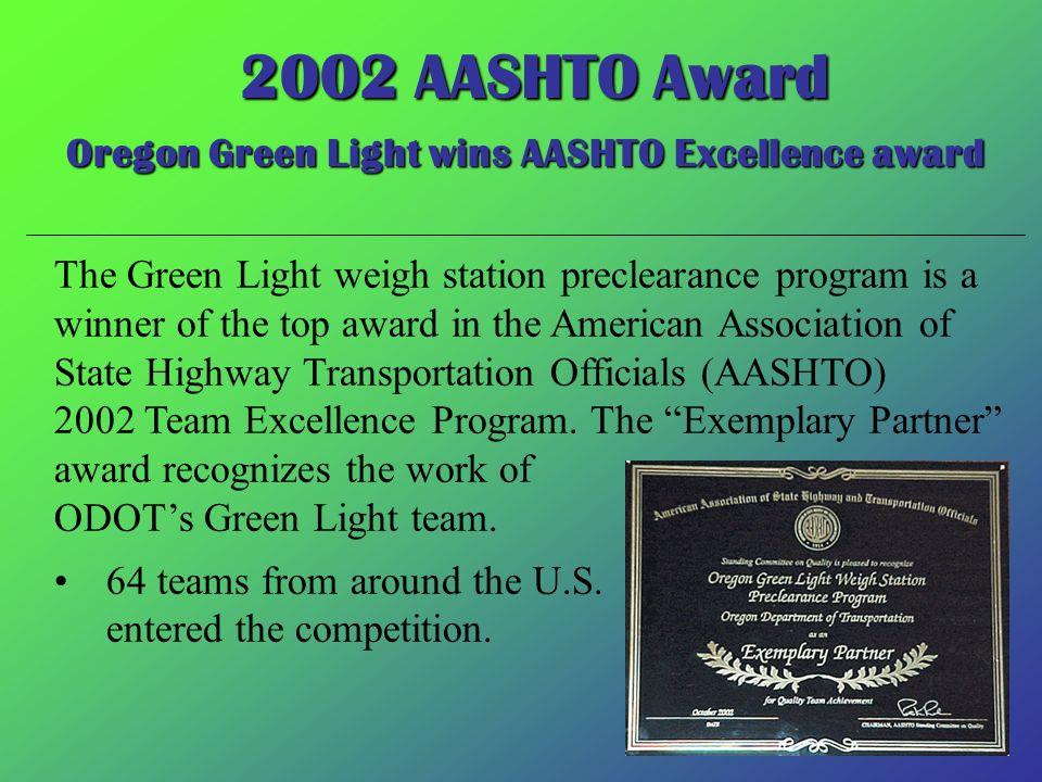 Oregon Green Light wins AASHTO Excellence award
