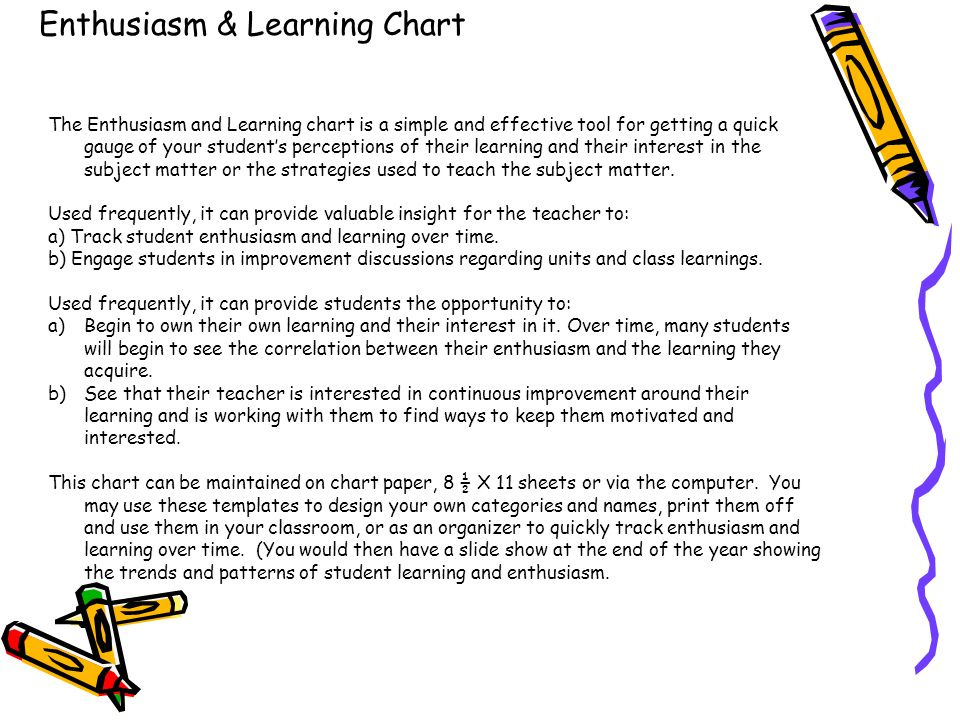 Enthusiasm & Learning Chart