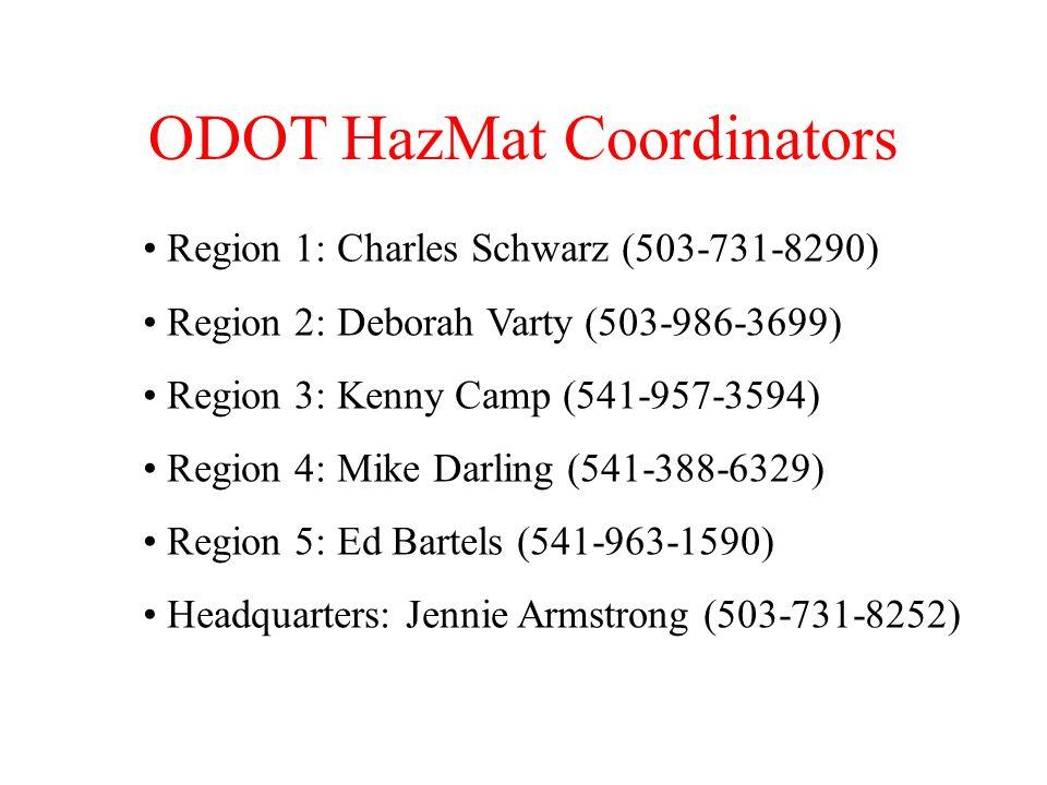 ODOT HazMat Coordinators
