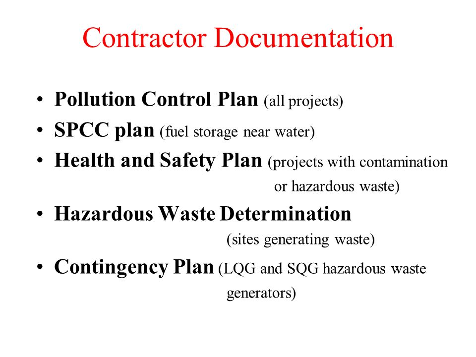 Contractor Documentation
