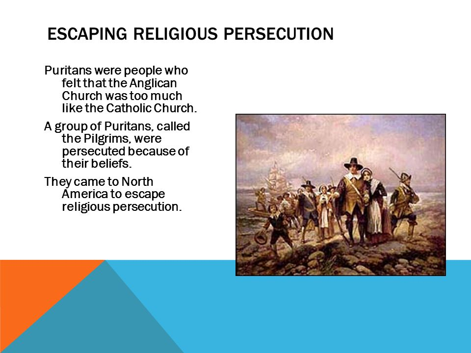 religious persecution drives colonists to north Centered religious thought to the growth and  veloped as a basic principle of the american colonists even  the east, the west, the north, and the.