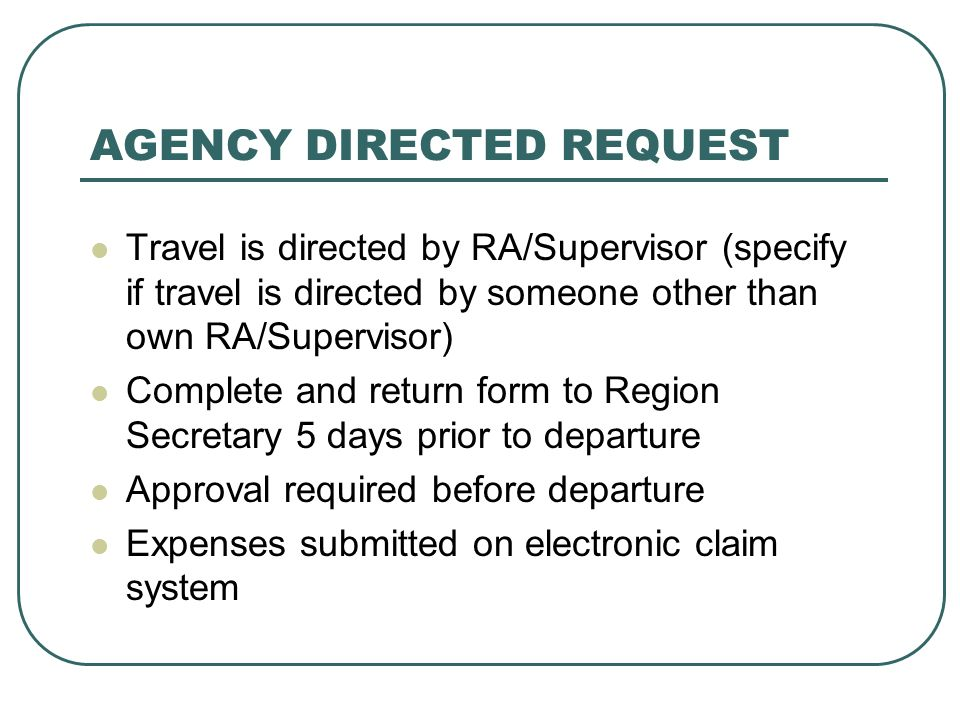 AGENCY DIRECTED REQUEST